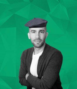 Cyril Sansano with beret